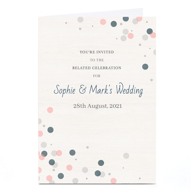 Personalised Wedding Invitation - Belated Celebrations