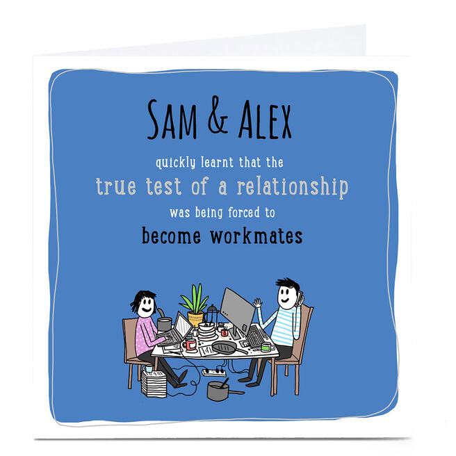 Personalised Working From Home Card - True Test of a Relationship