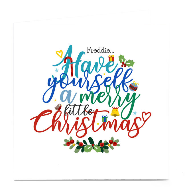 Personalised Rachel Griffin Christmas Card - Merry Little Christmas
