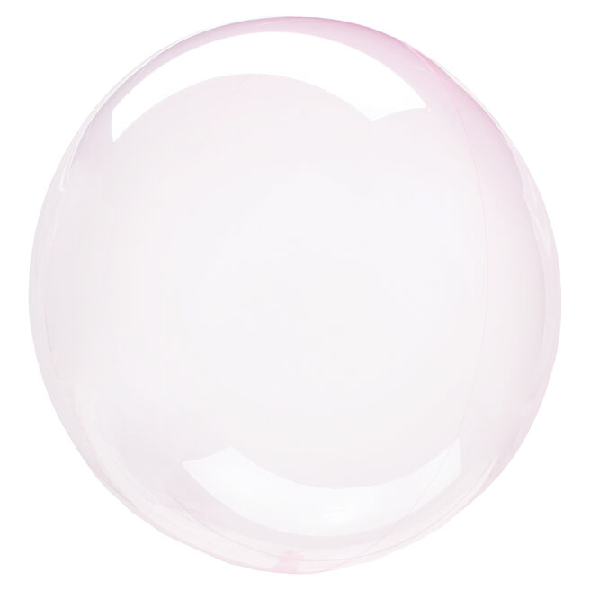12-Inch Light Pink Clear Orb-Shaped Helium Balloon