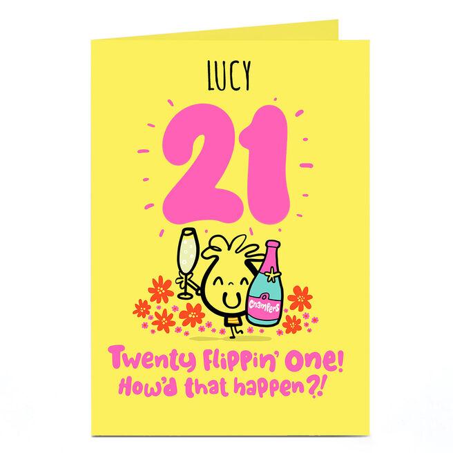 Personalised Fruitloops 21st Birthday Card - How'd That Happen?!