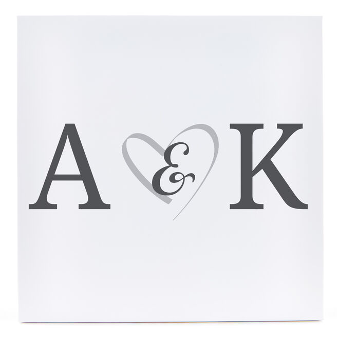 Personalised Canvas - 12x12 (Square) - Couple's Initials