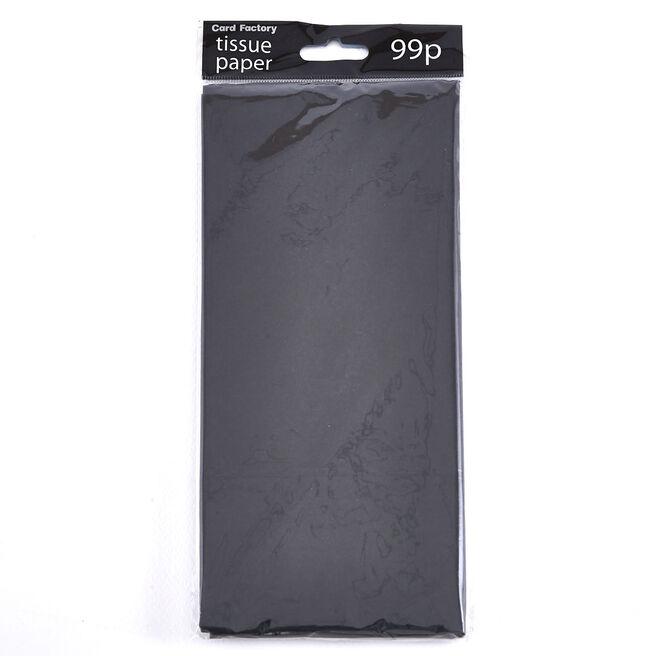 Matte Black Tissue Paper - 10 Sheets