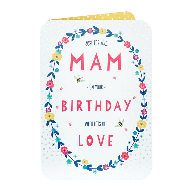 Birthday Card - Just For You Mam