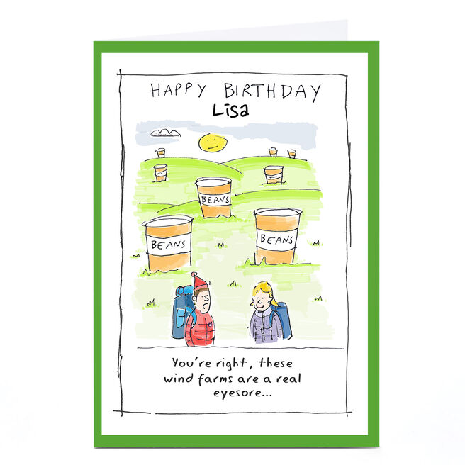 Personalised Vicar Of Scribbly Card - A Real Eyesore...