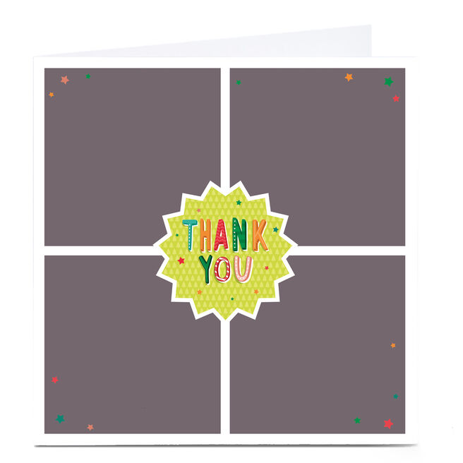 Photo Business Thank You Card - Multi Photo & Stars