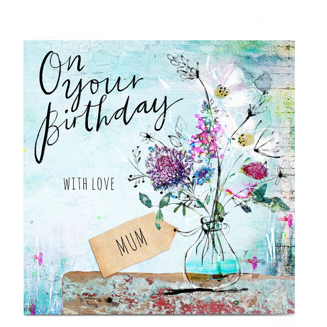 Personalised Emma Valenghi Birthday Card - With Love