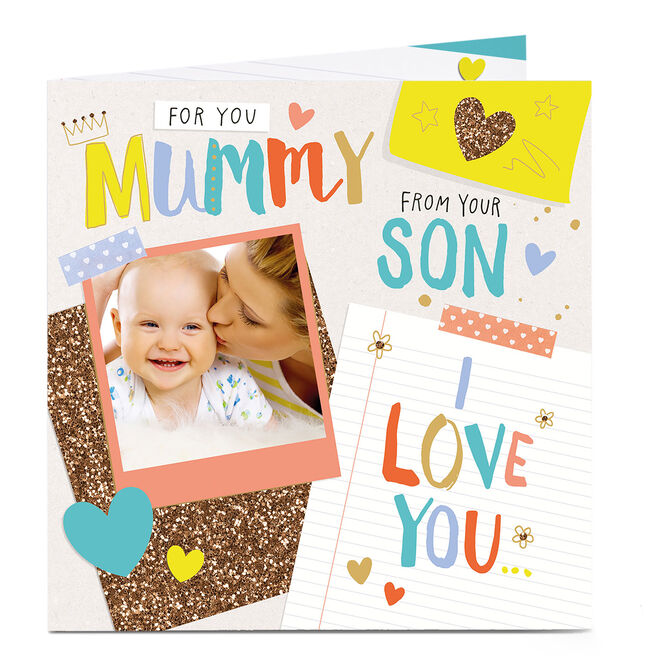 Photo Upload Mother's Day Card - From Your Son