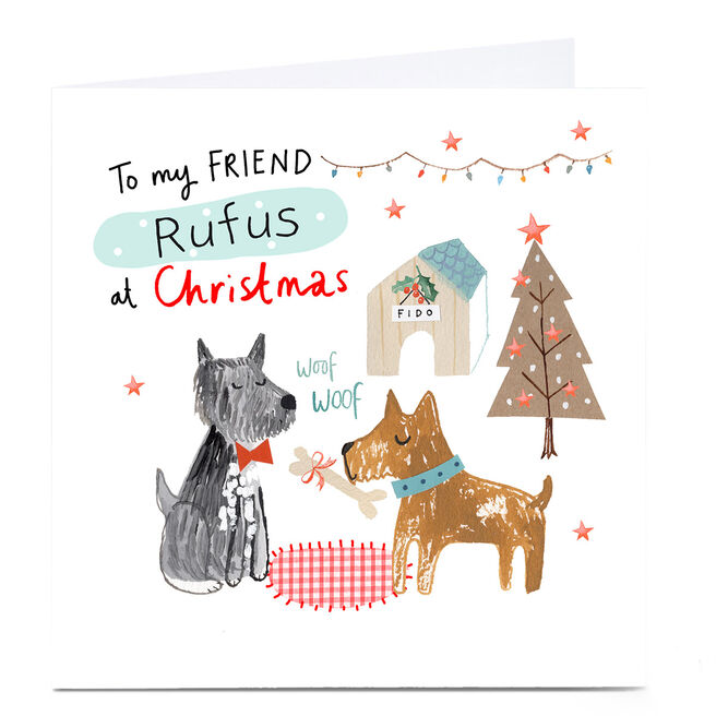 Personalised Lindsay Loves to Draw Christmas Card - To My Friend