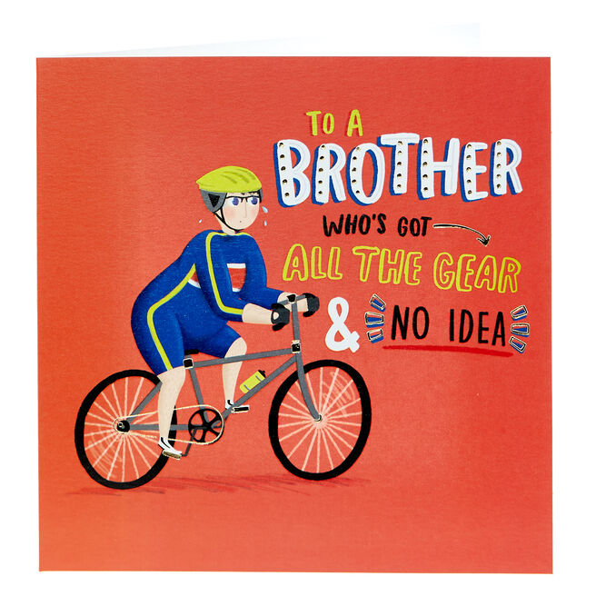 Birthday Card - Brother, Cycling