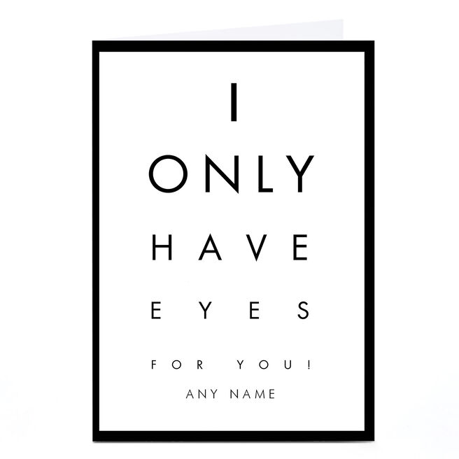 Personalised Card - Optician's Chart
