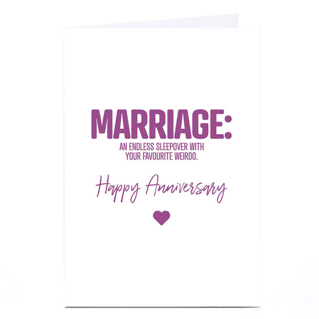 Personalised Punk Cards Anniversary Card - Marriage Anniversary