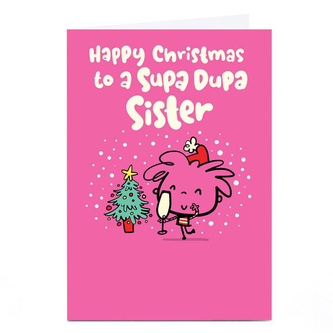 Personalised Fruitloops Christmas Card - Supa Dupa Sister