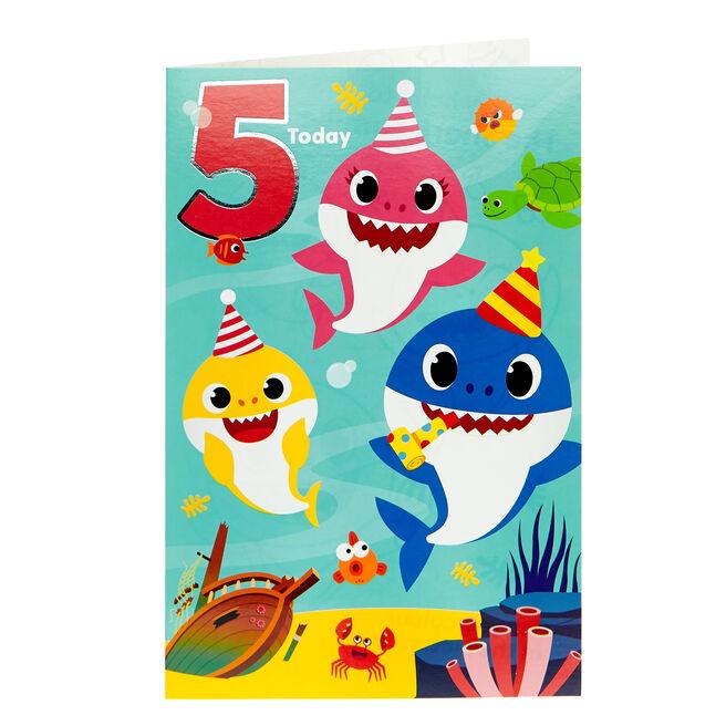 Baby Shark 5th Birthday Card