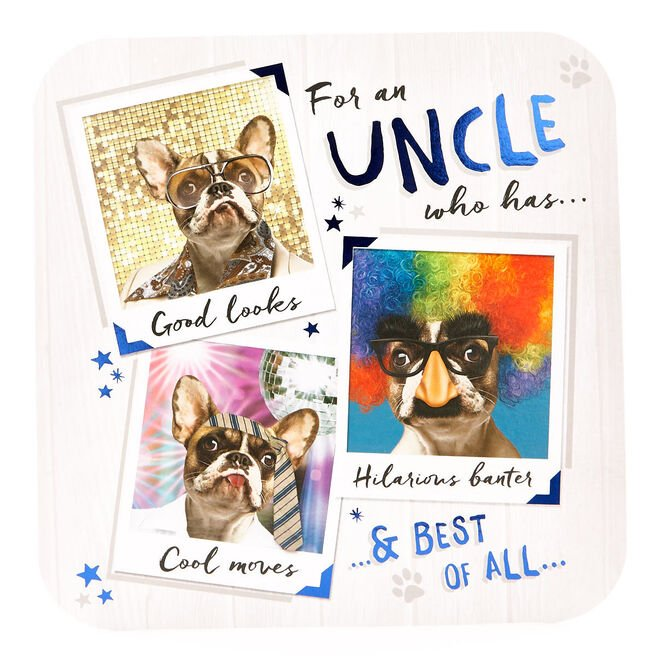Platinum Collection Birthday Card - Uncle Dog Photos