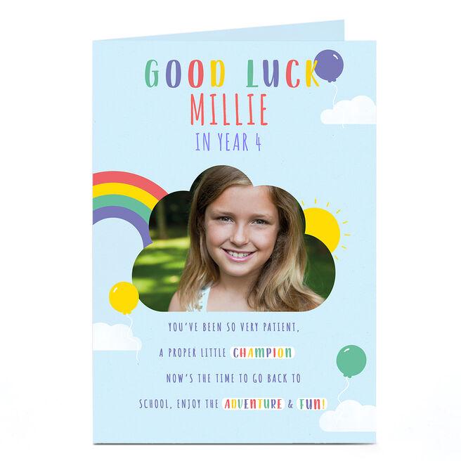 Good Luck Photo Card - Rainbow