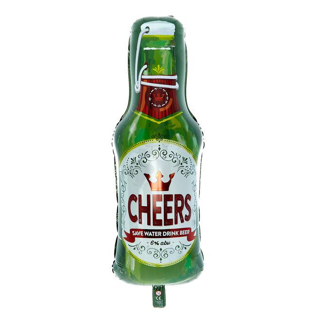 Cheers Beer Bottle 36-Inch Foil Helium Balloon