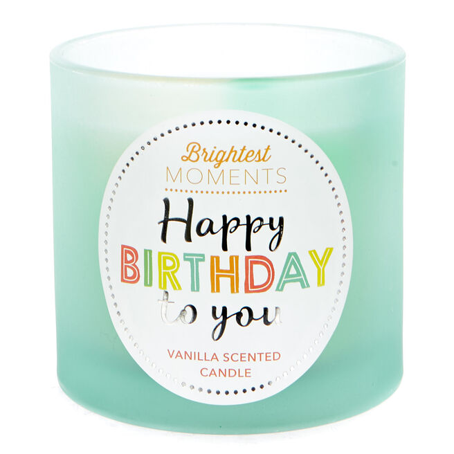 Brightest Moments Vanilla Scented Celebration candle - Happy Birthday