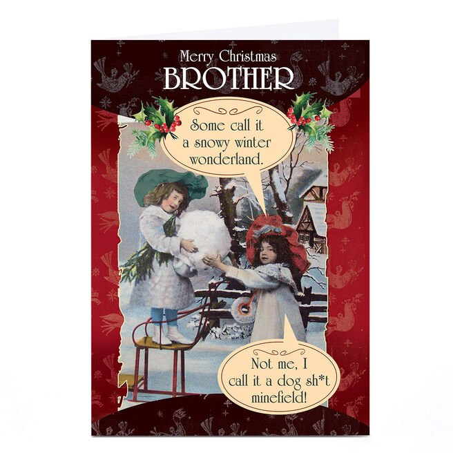 Personalised Quitting Hollywood Christmas Card - Two Boys