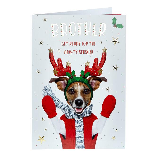 Christmas Card - Brother, Paw-ty Season
