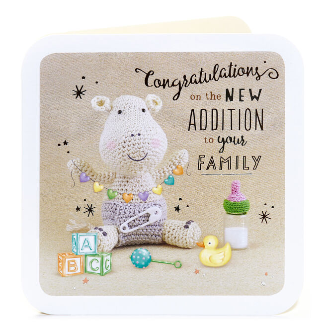 New Baby Card - Congratulations on The New Addition