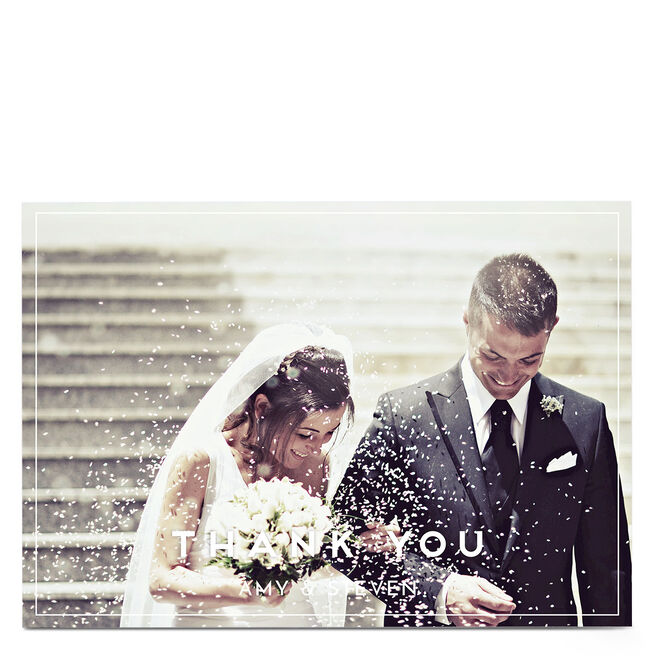 Personalised Wedding Photo Card - Thank You Landscape