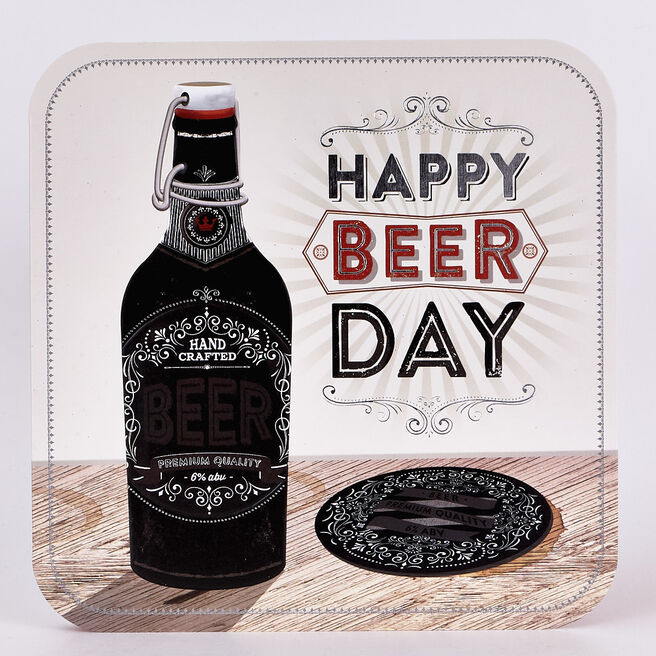 Platinum Collection Birthday Card - Happy Beer Day