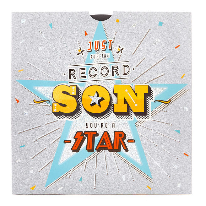 Exquisite Collection Birthday Card - Son Pull Out Record