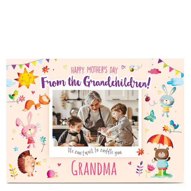 Personalised Mother's Day Photo Card - From the Grandchildren
