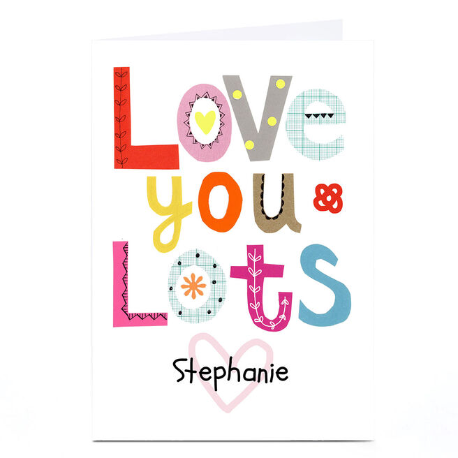Personalised Lindsay Loves To Draw Card - Love You Lots