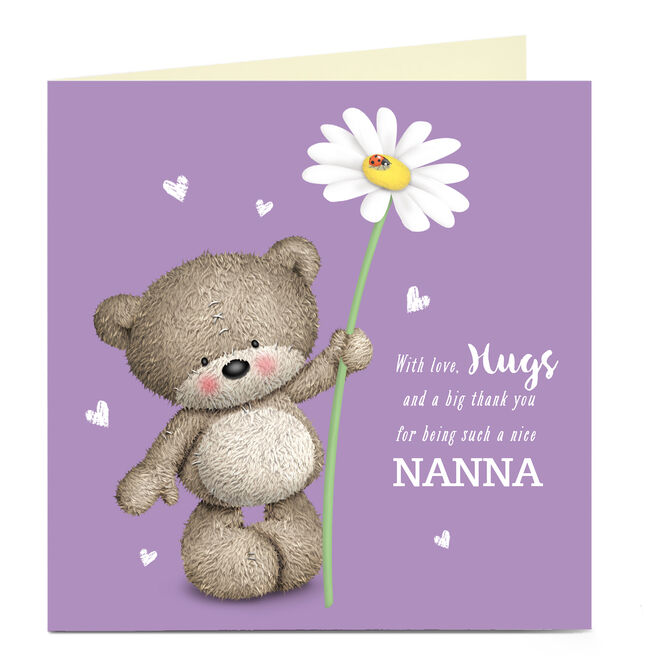 Personalised Mother's Day Card - Hugs Bear, Nanna