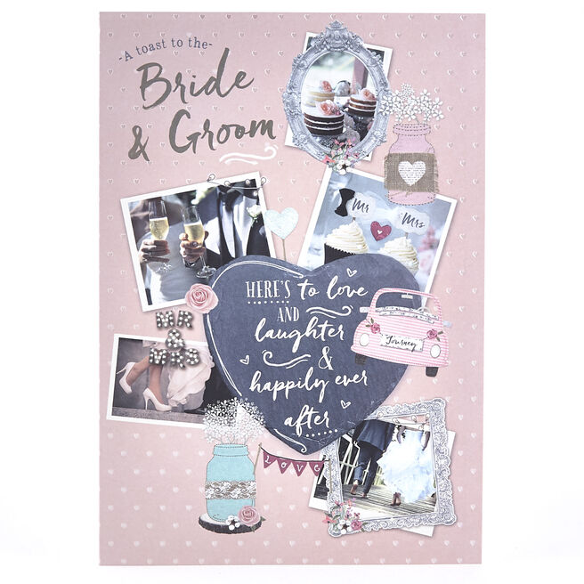 Wedding Card - Toast To The Bride & Groom