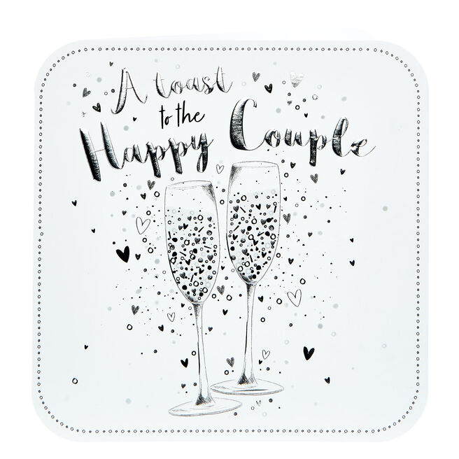 Platinum Collection Wedding Card - To The Happy Couple