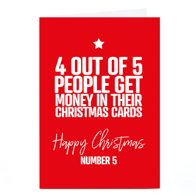 Personalised Punk Christmas Card - 4 out of 5