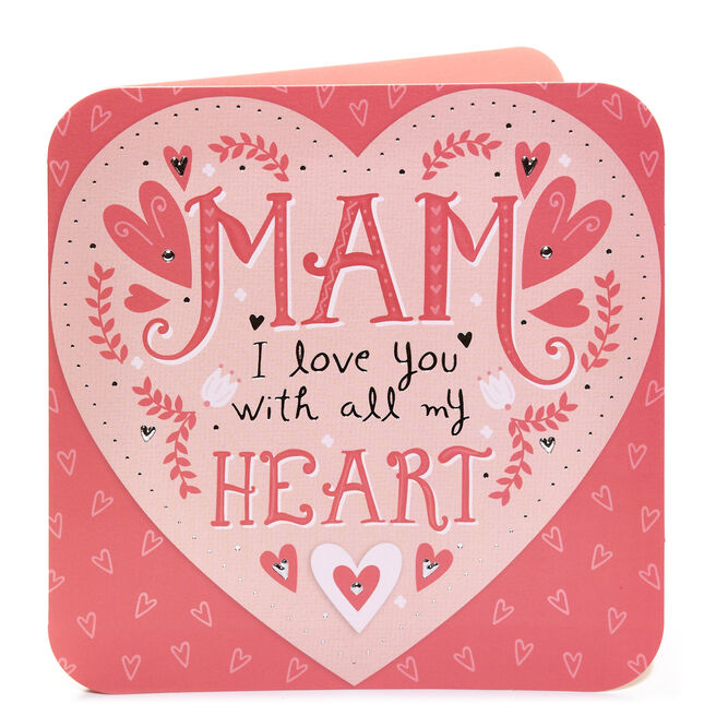 Birthday Card - Love You Mam