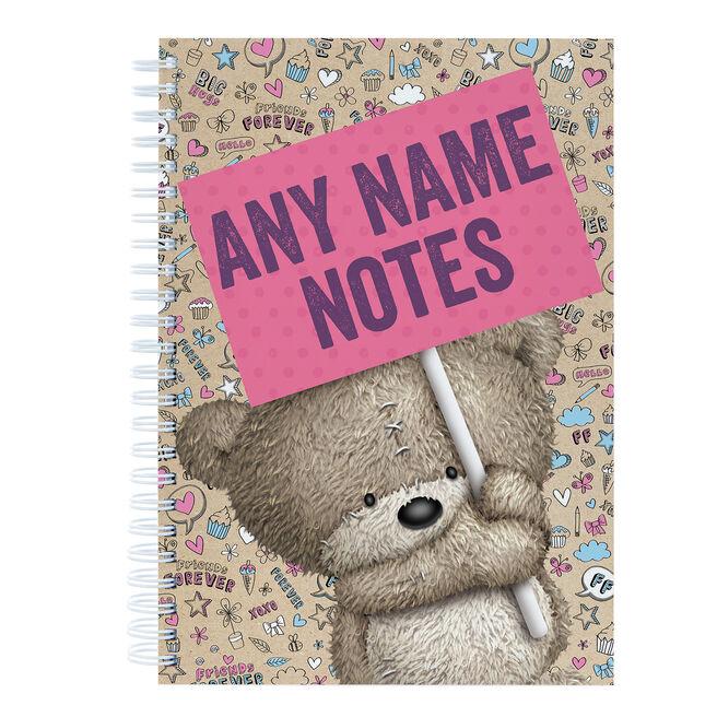 Personalised Hugs Her Notes Notebook