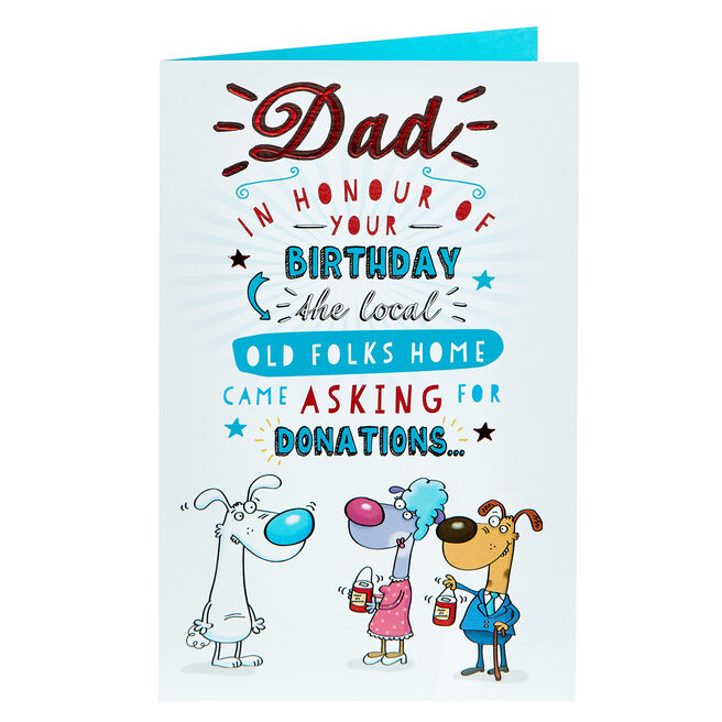 Birthday Card - Dad Old Folks Home