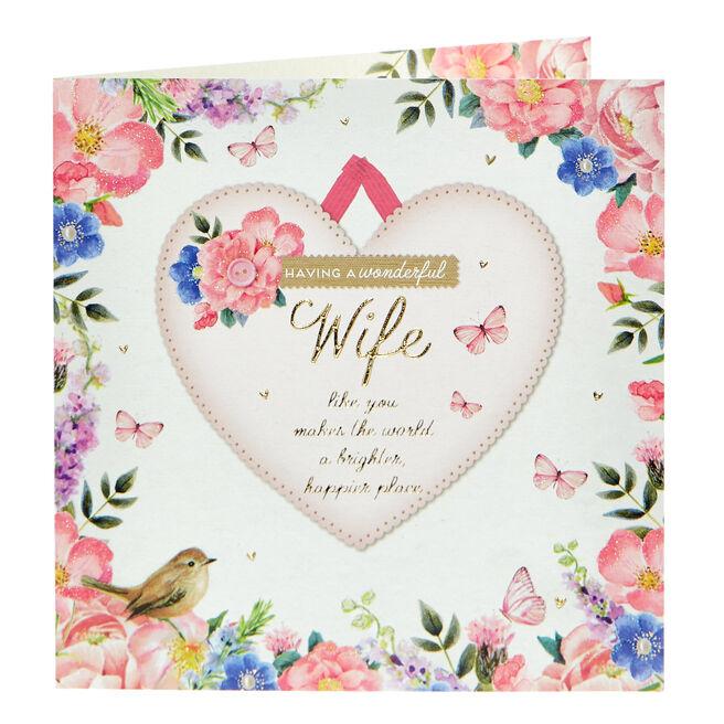 Birthday Card - Having A Wonderful Wife...