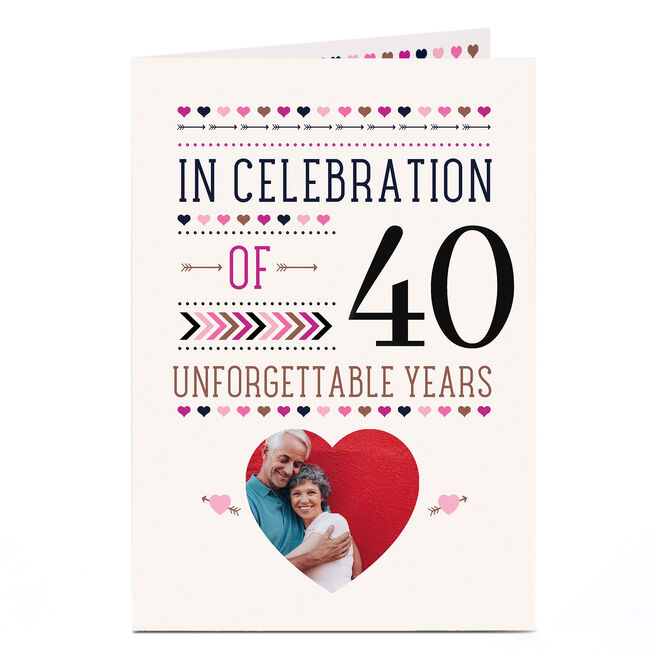 Photo Anniversary Card - 40 Unforgettable Years