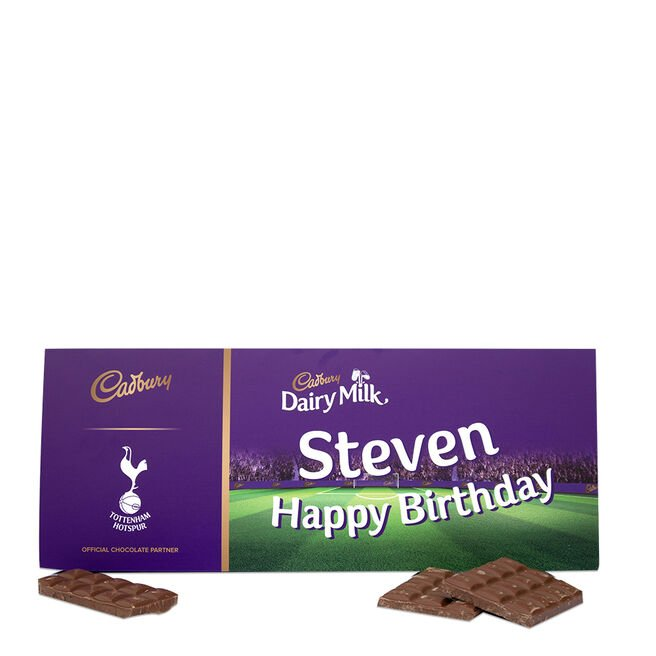 850g Personalised Tottenham Hotspur Cadbury Dairy Milk Bar