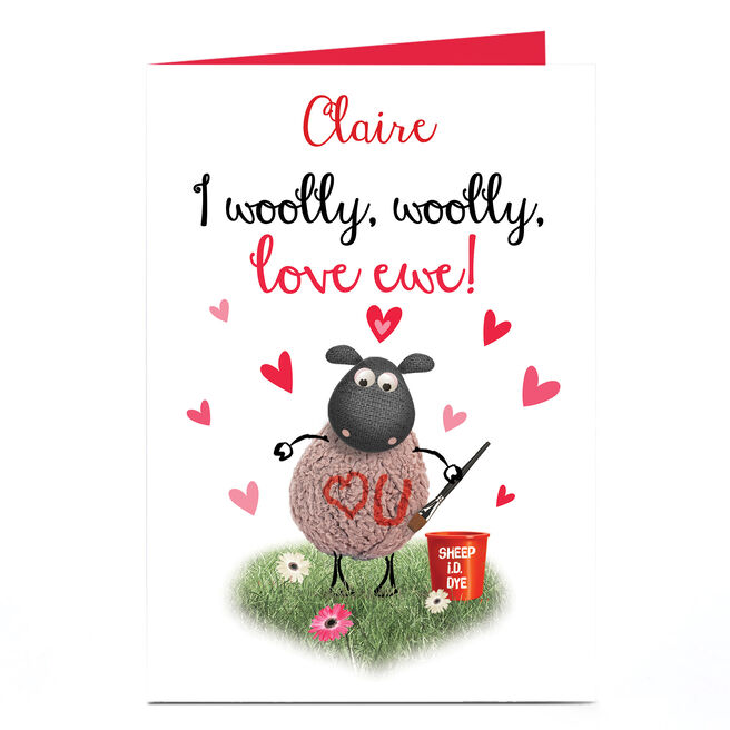 Personalised Card - I Woolly Woolly Love Ewe