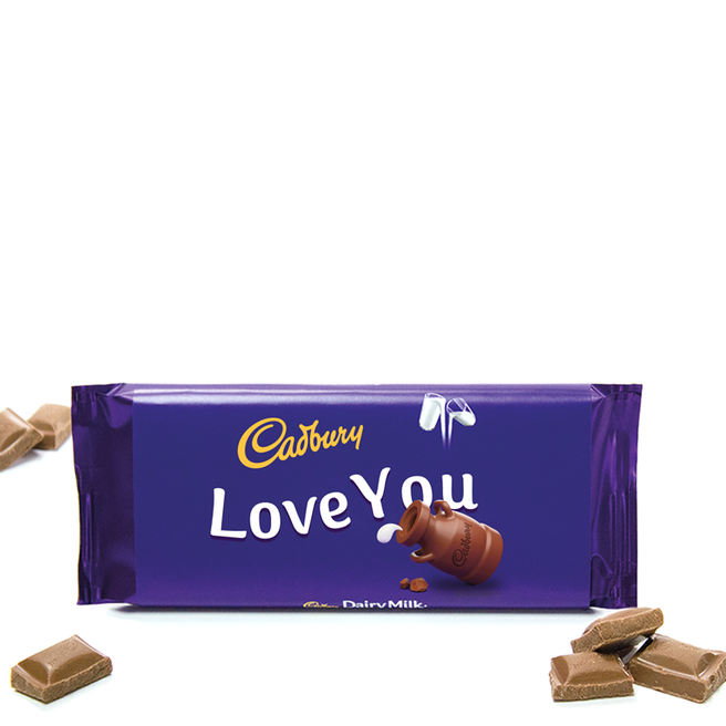 110g Cadbury Dairy Milk Chocolate Bar - Love You