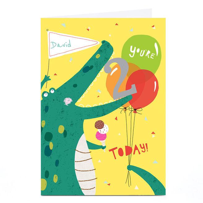 Personalised Cory Reid Birthday Card - Crocodile