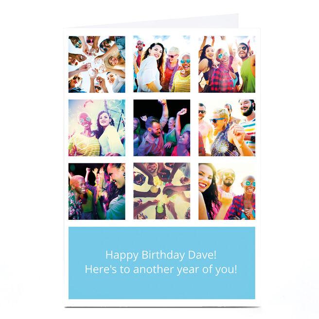 Photo Card - 9 Photos & Message