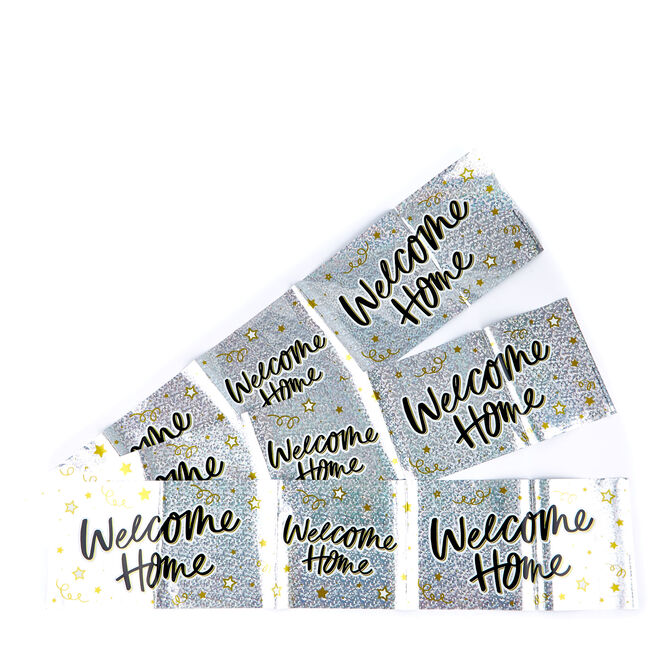 Holographic Welcome Home Party Banners - Pack Of 3