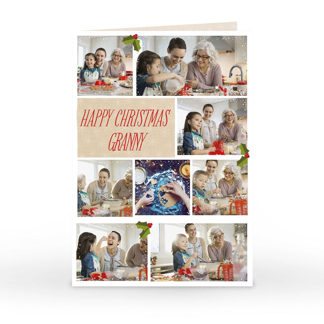 Personalised Christmas Photo Card - Happy Christmas Multi Upload