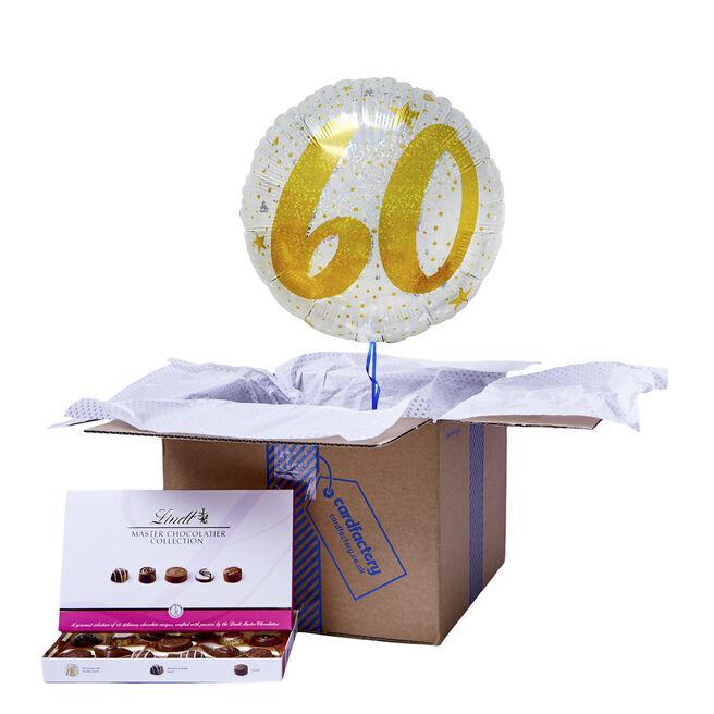 Gold & Silver 60th Birthday Balloon & Chocolate Box