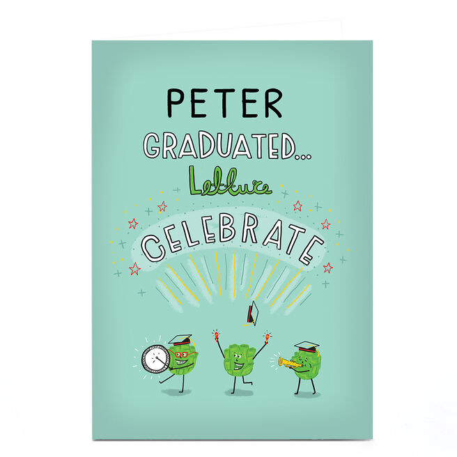 Personalised Congratulations Card - Lettuce Celebrate