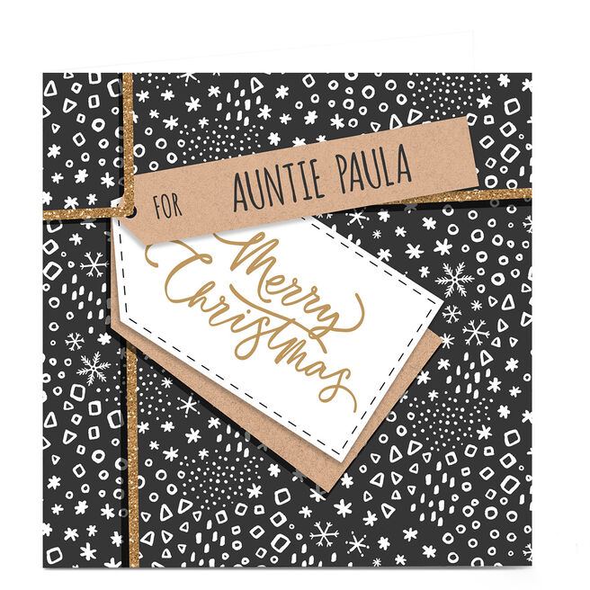 Personalised Christmas Card - Festive Gift Wrap