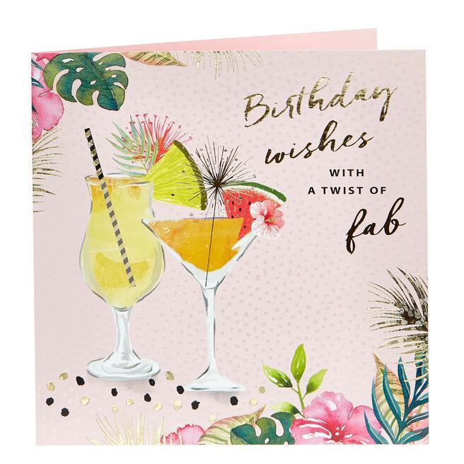 Birthday Card - With A Twist Of Fab